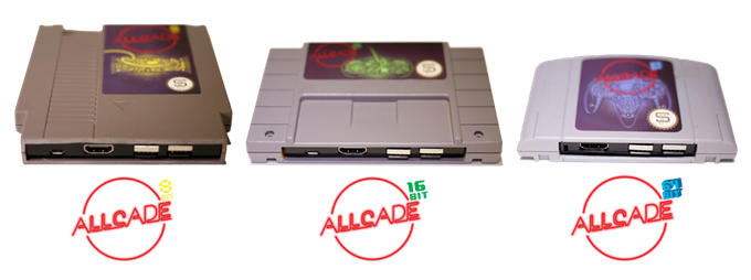 Allcade: una retro console detro un cassetta