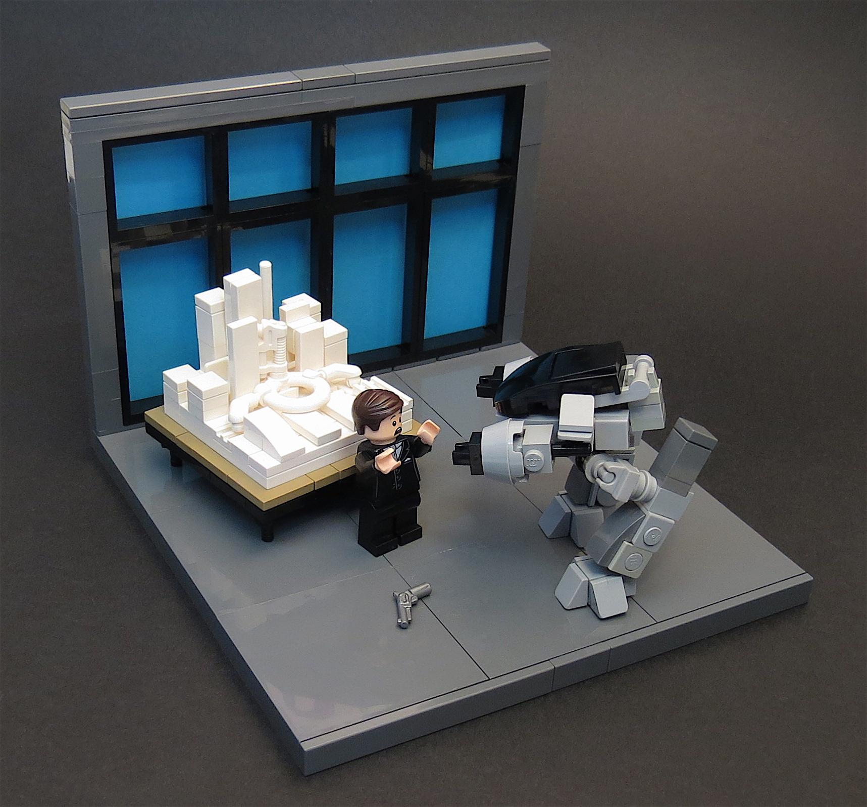 Adesso ha 5 secondi per eseguire....LEGO MOC ED-209 Presentazione